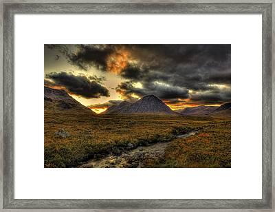 Buachaille Etive Mor Sunset-glencoe Framed Print