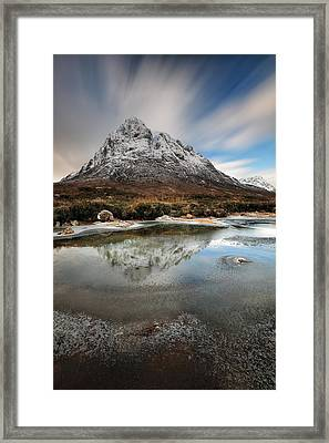 Buachaille Reflection Framed Print by Grant Glendinning