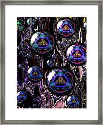 Bubble Abstract 1a Framed Print