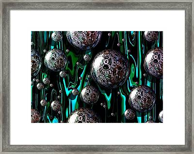 Bubble Abstract 1e Framed Print