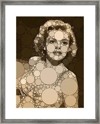 Bubble Art Judy Garland Framed Print by John Springfield
