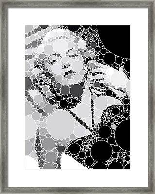Bubble Art Lana Turner Framed Print