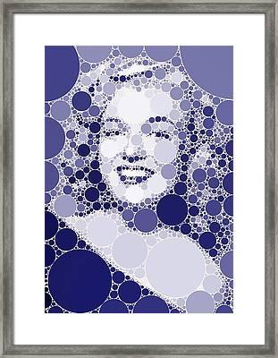 Bubble Art Marilyn Monroe Framed Print by John Springfield