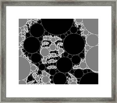Bubble Art Rock Star Framed Print by John Springfield