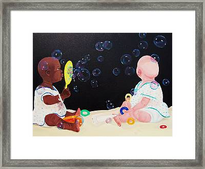Bubble Babies Framed Print