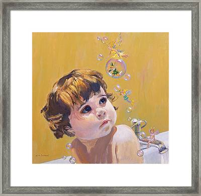 Bubble Bath Framed Print by William Ireland