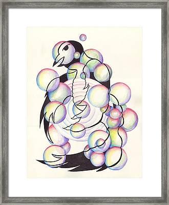 Bubble Birds Framed Print by Darren Cannell
