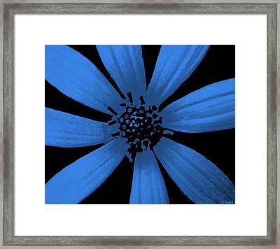 Bubble Blue Framed Print by Ed Smith