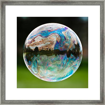 Framed Print featuring the photograph Bubble by Brian Bonham