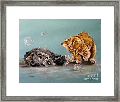 Bubble Cats Framed Print
