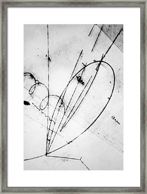 Bubble Chamber Photo Of Sigma Particle Decay Framed Print by Brookhaven Laboratory