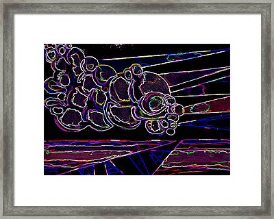 Bubble Cloud IIi Framed Print by Gwen Curry