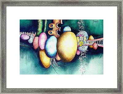 Bubble Frog Framed Print by Sam Sidders