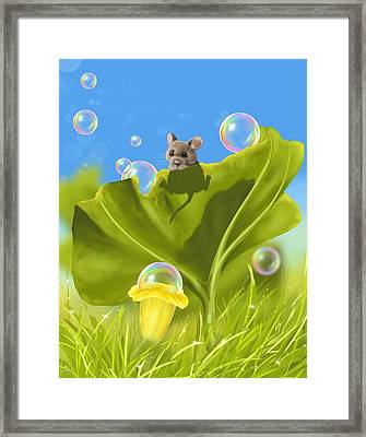 Bubble Games Framed Print by Veronica Minozzi
