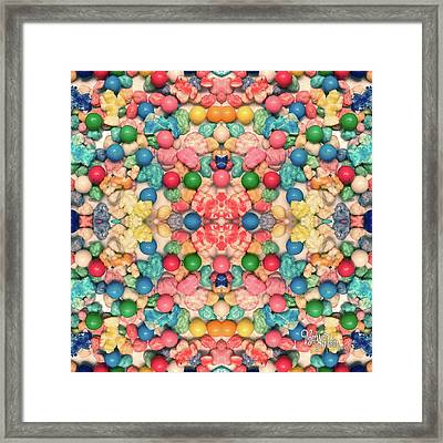 Framed Print featuring the digital art Bubble Gum #9776 by Barbara Tristan