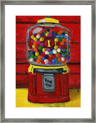 Bubble Gum Bank Framed Print