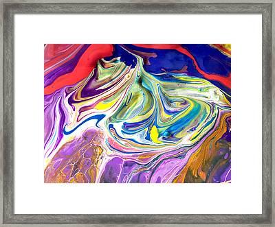 Bubble Gum Ice Cream Framed Print