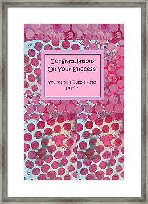 Congratulations Framed Print