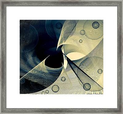 Bubble Hurricane Framed Print