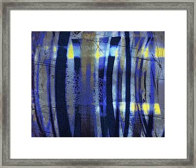 Bubble Lines Framed Print