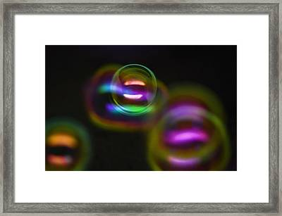 Bubble Magic Framed Print