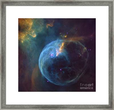 Bubble Nebula Outer Space Space Exploration Framed Print by Tina Lavoie