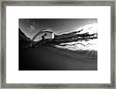 Bubble Surfer Framed Print