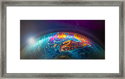 Bubble Planet II  Framed Print by Maggie Terlecki