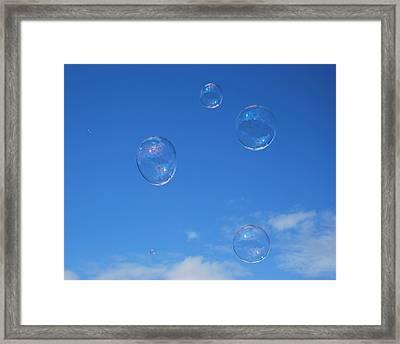 Bubble Play Framed Print by Marilynne Bull