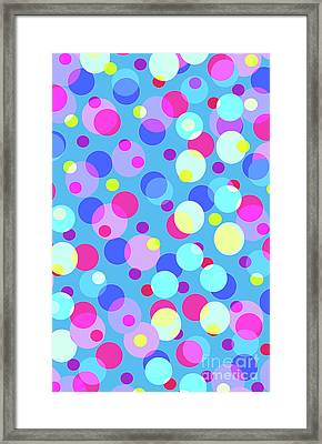 Bubble Pop Framed Print by Louisa Knight