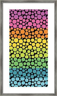 Bubble Rainbow Framed Print