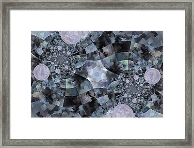Bubble Road Framed Print