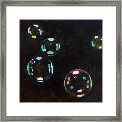Bubble Study 01 Framed Print by Guenevere Schwien
