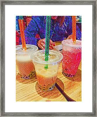 Bubble Tea For Three Framed Print