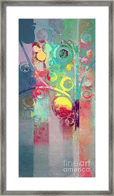 Framed Print featuring the painting Bubble Tree - 285l by Variance Collections