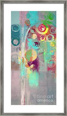 Framed Print featuring the digital art Bubble Tree - 285r by Variance Collections