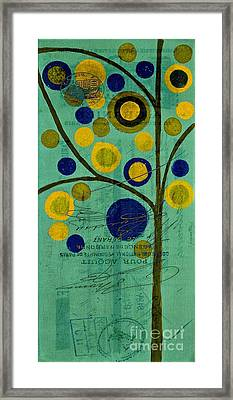 Bubble Tree - 4211t Framed Print by Variance Collections