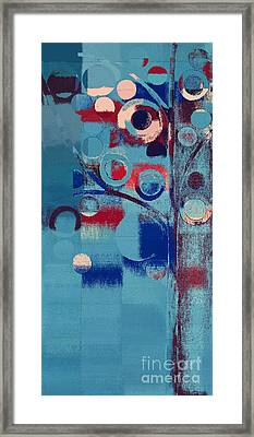 Framed Print featuring the painting Bubble Tree - 85e-j4 by Variance Collections