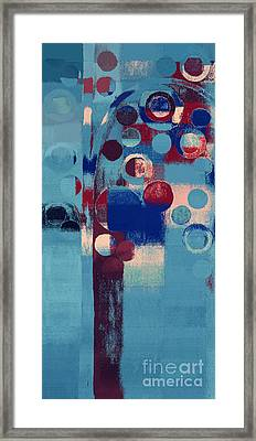 Framed Print featuring the painting Bubble Tree - 85l-j4 by Variance Collections