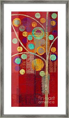 Bubble Tree - 85lc13-j678888 Framed Print by Variance Collections