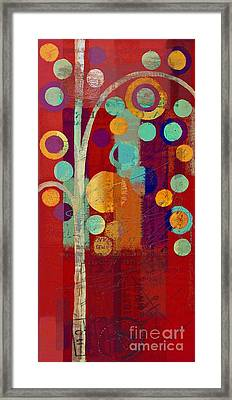 Bubble Tree - 85rc13-j678888 Framed Print by Variance Collections