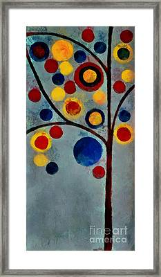 Bubble Tree - Dps02c02f - Left Framed Print by Variance Collections