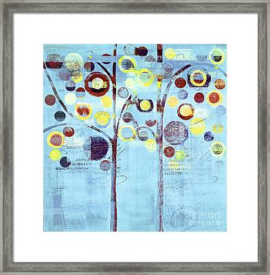 Bubble Tree Duo - 44bl01b Framed Print by Variance Collections