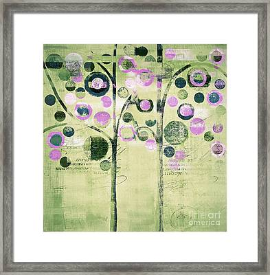 Bubble Tree Duo - 44gree3 Framed Print by Variance Collections