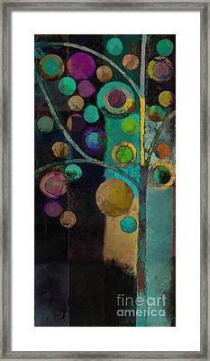 Bubble Tree - J122129155lv11 Framed Print by Variance Collections