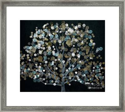Bubble Tree Night Framed Print by Mindy Sommers