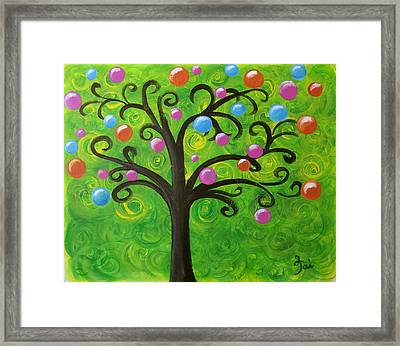 Bubble Tree Framed Print by Oiyee At Oystudio