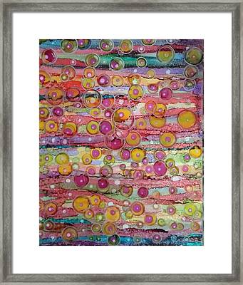Bubble World Framed Print