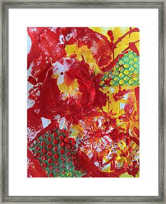 Framed Print featuring the painting Bubble Wrap Plus by Karen bertha Calderon