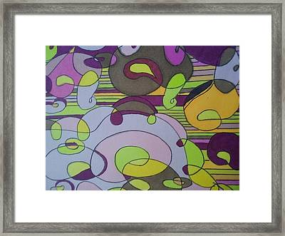 Bubblegum Framed Print by Modern Metro Patterns and Textiles